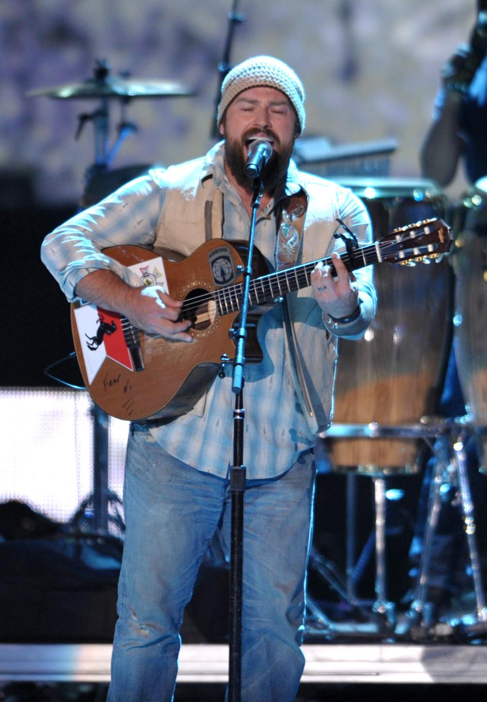 Zac Brown performs with the Zac Brown Band at the 2012 CMT Music Awards on Wednesday, June 6, 2012 in Nashville, Tenn. (Photo by John Shearer/Invision/AP)