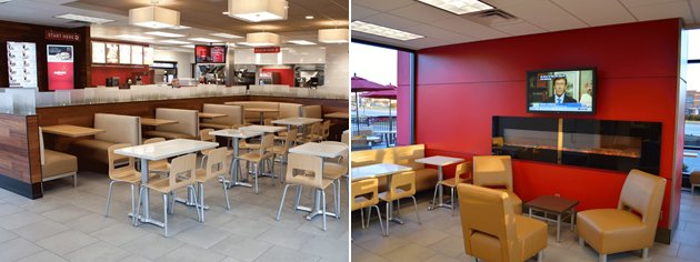 Wendy's restaurant interiors