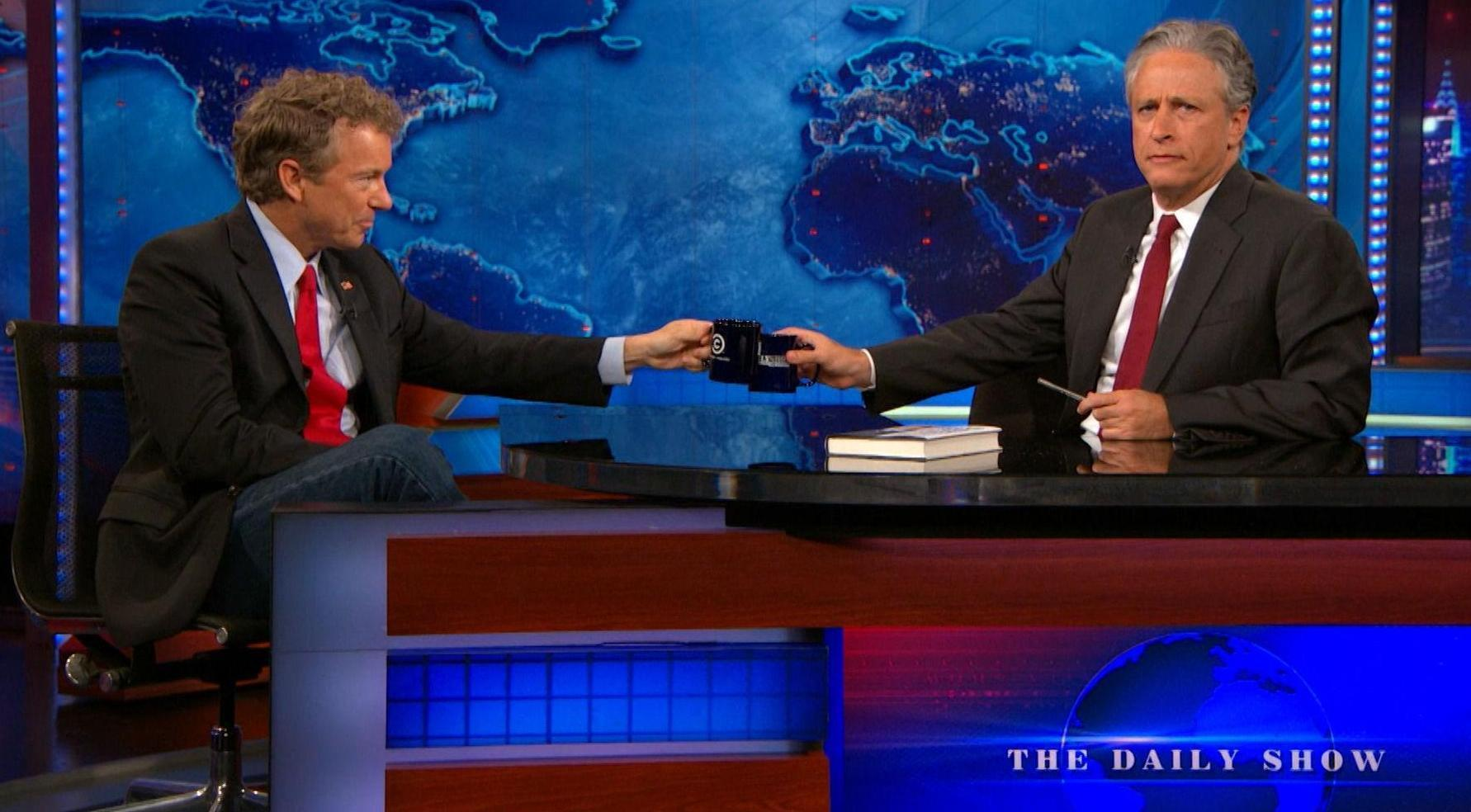 Rand Paul and Jon Stewart Debate Religious Freedom