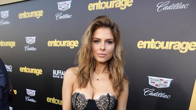 """Maria Menounos seen at Warner Bros. Premiere of """"Entourage"""" held at Regency Village Theatre on Monday, June 1, 2015, in Westwood, Calif. (Photo by Eric Charbonneau/Invision for Warner Bros./AP Images)"""