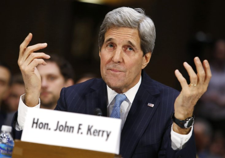 U.S. Secretary of State John Kerry testifies before a Senate Foreign Relations Committee hearing on Authorization for the Use of Military Force Against ISIL on Capitol Hill in Washington, D.C., on Dec. 9, 2014. (Yuri Gripas/Reuters)