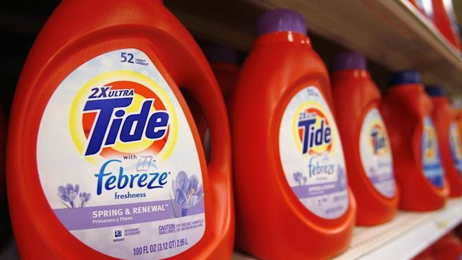 Tide detergent, a Procter & Gamble product, is displayed on a shelf in a store in Alexandria