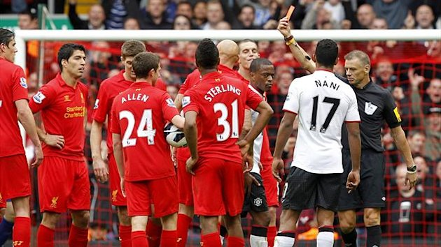 Referee Mark Halsey, right, received the insulting tweets after Liverpool&#39;s game against Manchester United