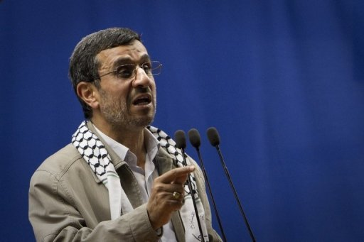 "Iranian President Mahmoud Ahmadinejad delivers a speech in Tehran University August 17. UN leader Ban Ki-moon is ""dismayed"" by the latest anti-Israel comments made by Iranian leaders, a spokesman said Friday, after Ahmadinejad's attack on Israel as being a ""cancerous tumour"""