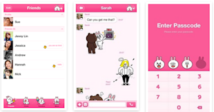 Japanese Mobile Messaging Service LINE Updates iOS App And Supports German, Italian and Portuguese image LINE new themes