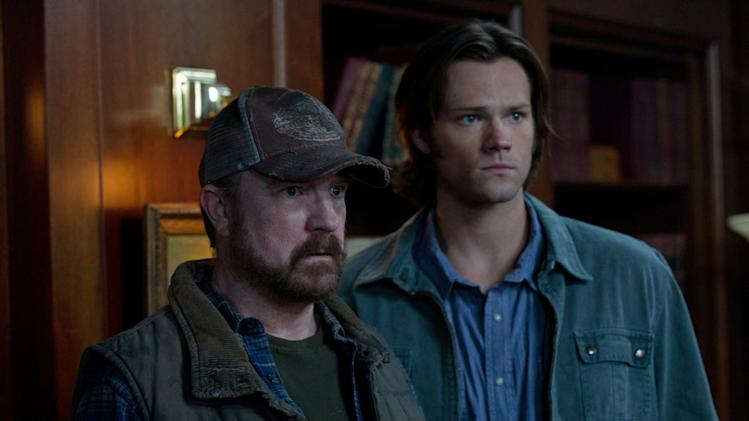 """Meet the New Boss""  - (L-R): Jim Beaver as Bobby Singer and Jared Padalecki as Sam Winchester in ""Supernatural."""