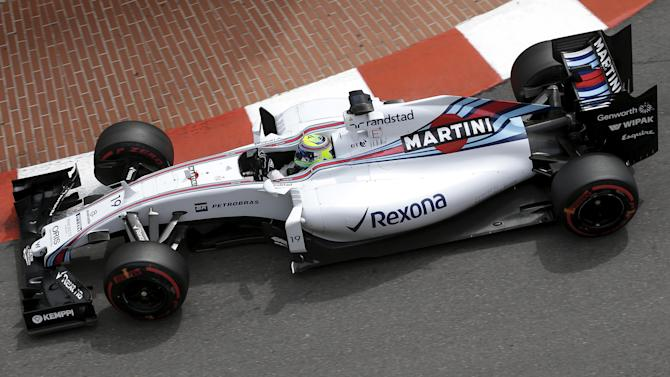 Williams Formula One driver Massa of Brazil drives during the third free practice session at the Monaco F1 Grand Prix