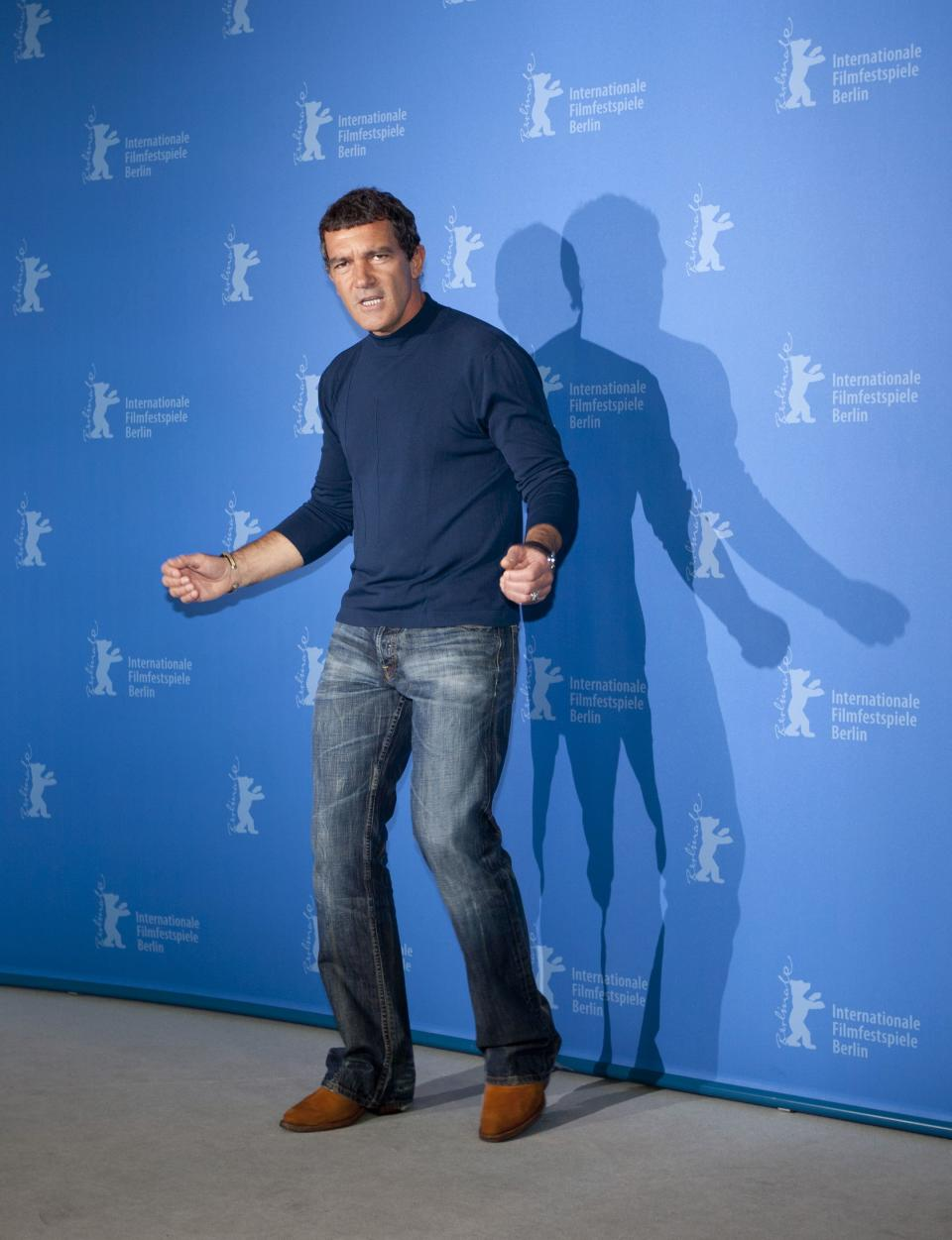 Actor Antonio Banderas poses for the photo call of the film Haywire at the 62 edition of the Berlinale, International Film Festival in Berlin, Wednesday, Feb. 15, 2012. (AP Photo/Markus Schreiber)