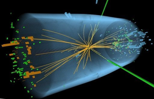 Protons smash together close to the speed of light, yielding sub-atomic debris that is scrutinised for signs of the Higgs