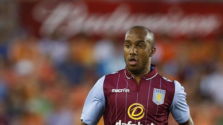 Midfielder Fabian Delph of Aston Villa, pictured in Texas in July, has been called up for the England squad as they play a friendly against Norway