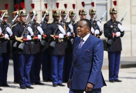Supporters of Congo President Sassou Nguesso rally for referendum