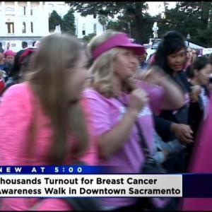 Thousands Turnout For Sacramento Breast Cancer Awareness Walk
