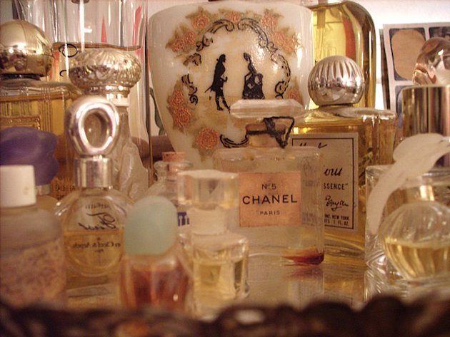 An old perfume collection