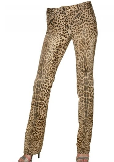 Roberto Cavalli Leopard Jeans, on sale for $351