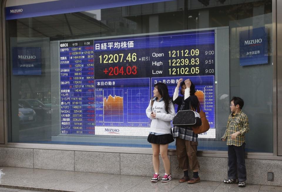 Asia stock markets fall on weak US economic data