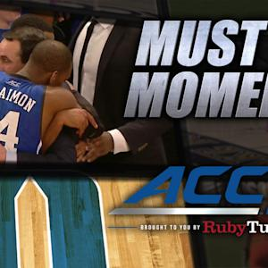 Duke's Mike Krzyzewski Celebrates 1,000th Win | ACC Must See Moment