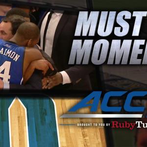 Duke's Mike Krzyzewski Celebrates 1,000th Win | ACC Must See Moment