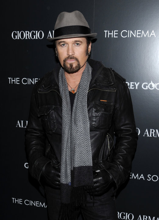 FILE - This Dec. 13, 2011 file photo shows singer Billy Ray Cyrus attending a special screening of &quot;Albert Nobbs&quot; at the Museum of Modern Art in New York. Cyrus is making his Broadway debut in &quot;Chicag