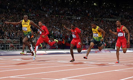 Usain Bolt Wins Gold Medal Again in 100-Meter Dash
