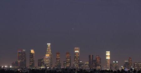 A view of the Los Angeles downtown skyline