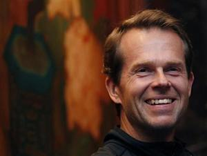 Edberg attends a news conference for the upcoming Hong Kong Tennis Classic