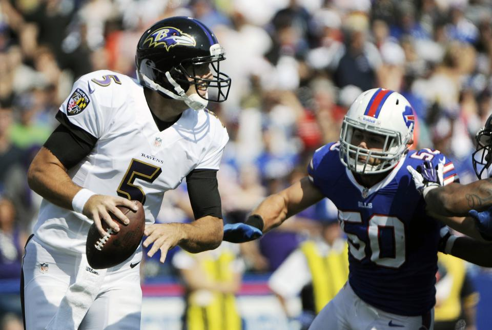 Ravens QB Flacco out of sync in loss to Bills