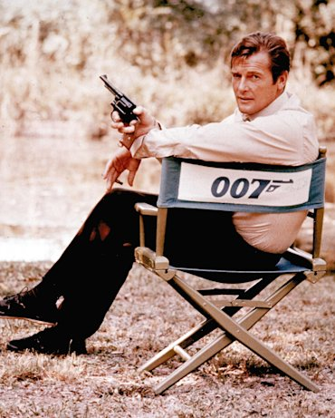 Roger Moore as James Bond 007 in 1972