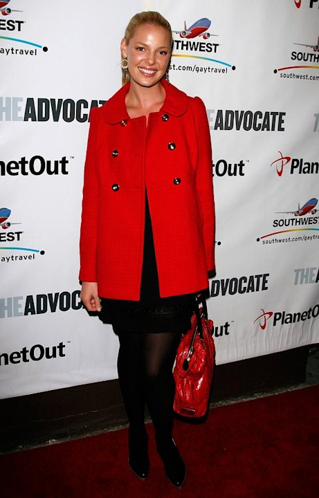 Katherine Heigl arrives at the Advocate Magazine 40th Anniversary Party at Republique club.