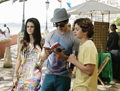 Selena Gomez, David Henrie and Jake T. Austin in the Disney Channel Original Movie Wizards of Waverly Place