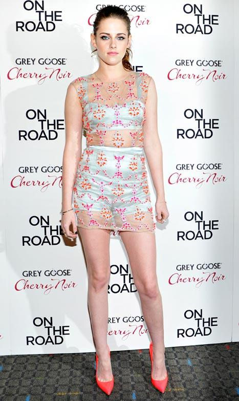 Kristen Stewart Wears See-Through Dress, Parties With Kirsten Dunst