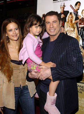 Kelly Preston and John Travolta with daughter Ella Bleu at the Hollywood premiere of MGM's Be Cool
