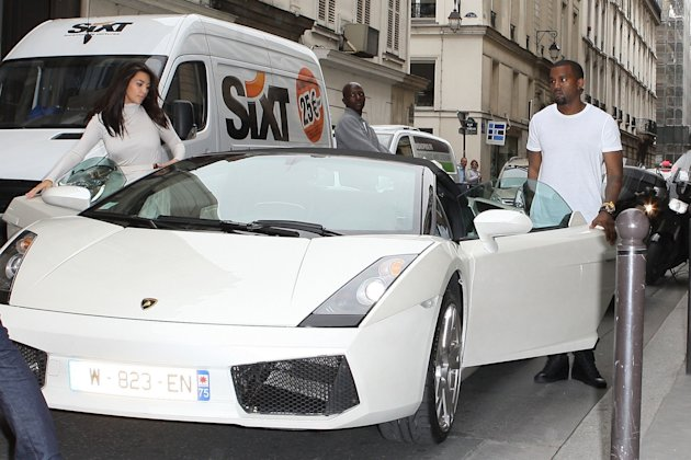 Kim Kardashian y Kanye en Paris