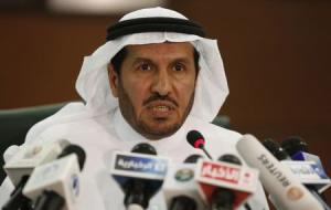 Saudi Health Minister Abdullah al-Rabia speaks during a news conference in Riyadh