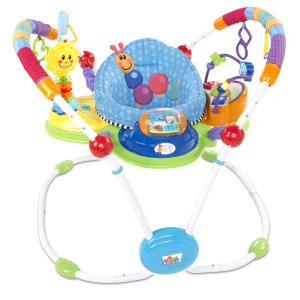 """This photo provided by the U.S. Consumer Product Safety Commission shows a Baby Einstein Activity Jumpers that is being recalled Friday, July 26, 2013, due to impact hazard. The """"sun"""" toy attachment on the activity jumper can rebound with force and injure the infant, posing an impact hazard. (AP Photo/U.S. Consumer Product Safety Commission)"""