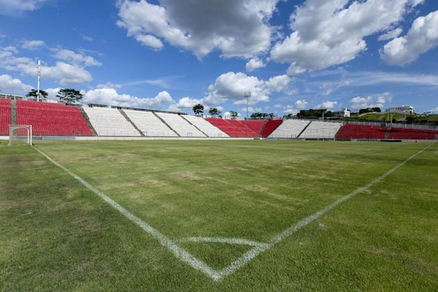 In this Feb. 4, 2014 photo, shows a view of the Arena do Jacare stadium in Sete Lagoas, Brazil. Uruguay's national soccer team will practice at the stadium during the 2014 FIFA World Cup tournamen