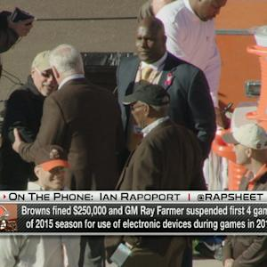 Cleveland Browns fined $250,000, GM Ray Farmer suspended