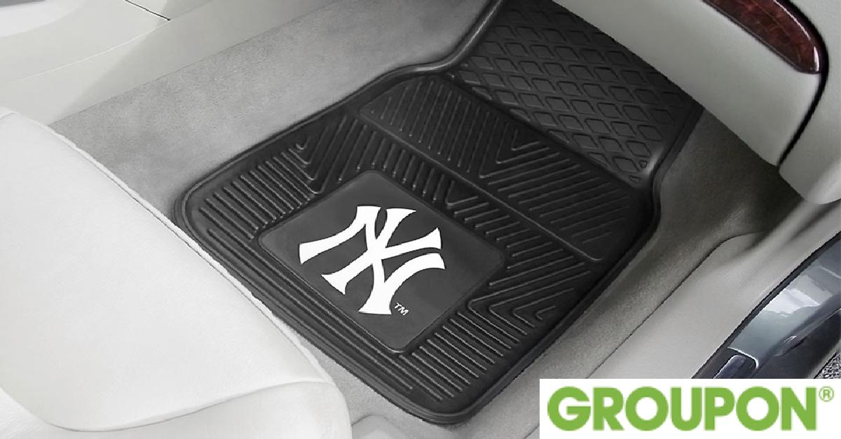 Set of 2 MLB Vinyl Car Mats for $27.99