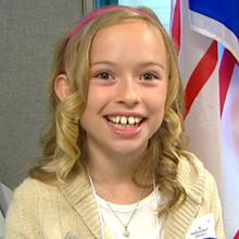 Grade 4 student Karlie Pinsent won a province-wide competition for the Diamond Jubilee.