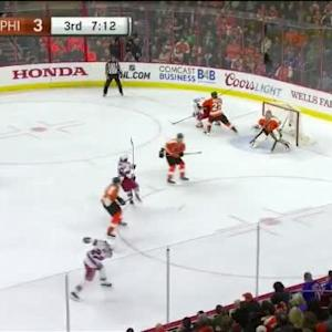 Steve Mason Save on Dan Boyle (12:49/3rd)