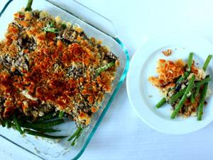 Green Bean Mushroom Casserole with Easy Dijon Vinaigrette