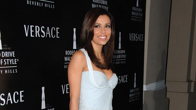 Eva Longoria at the Gianni And Donatella Versace Receive Rodeo Drive Walk Of Style Award.