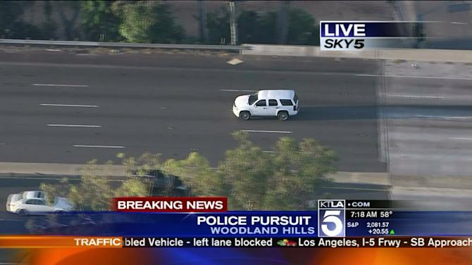 Suspected DUI Driver in Custody After Freeway Pursuit in Woodland Hills Area
