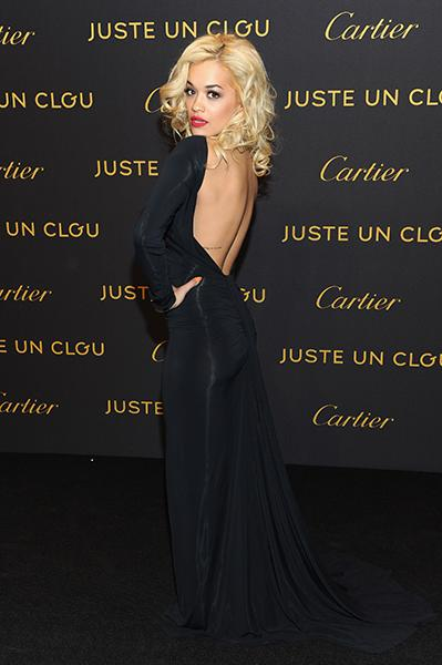 On the black carpet at Cartier's Juste Un Clou party in April