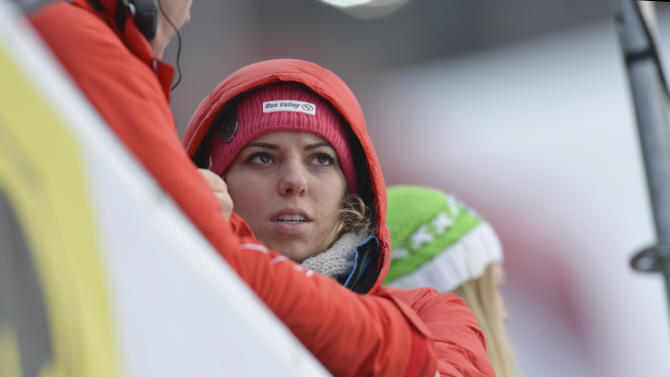 Laura Kildow sister United States'LindseyVonn reacts after Vonn crashed during the women's super-G at the Alpine skiing world championships in Schladming, Austria, Tuesday, Feb.5,2013. (AP Photo/Kerstin Joensson)