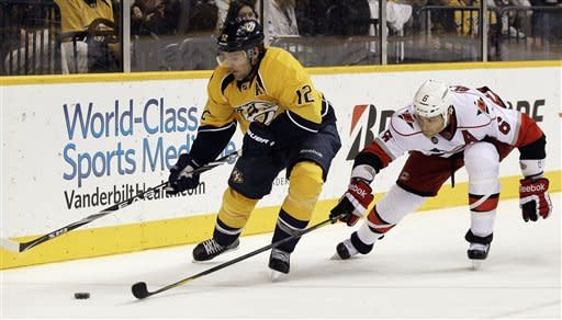 Hornqvist leads Predators past Hurricanes, 5-2