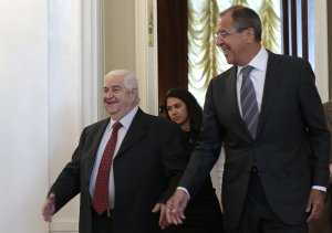 Russian Foreign Minister Sergey Lavrov welcomes his …