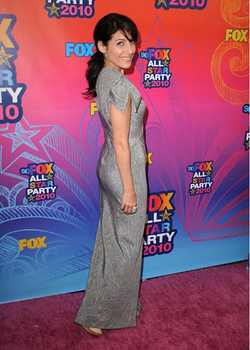 """House's"" Lisa Edelstein arrives at the Fox 2010 Summer TCA All-Star Party on August 2, 2010 in Santa Monica, California."