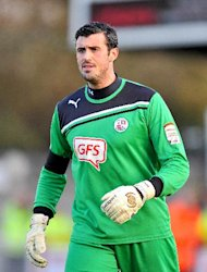 Steve Evans was impressed with the way Scott Shearer, pictured, bounced back from an error