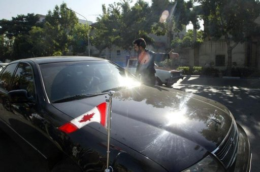 <p>File photo of the Canadian ambassador's car in Tehran. Canada has closed its Tehran embassy and ordered Iranian diplomats be expelled, in a damning severance of ties in which it accused the Islamic Republic of being the biggest threat to world peace.</p>