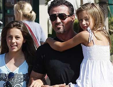 pst Sylvester Stallone AndH Is Girls
